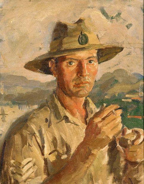 Dargie William. Рулевой катера сержант Arie Smelt.