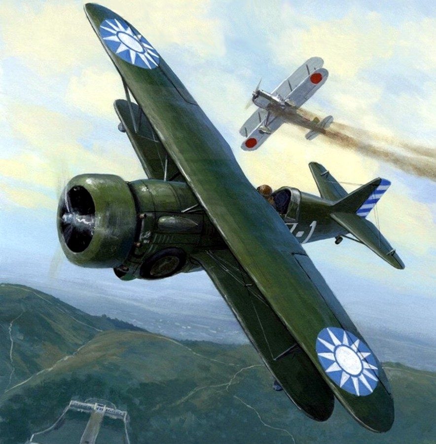 Postlethwaite Mark. Истребитель Curtiss Hawk III.