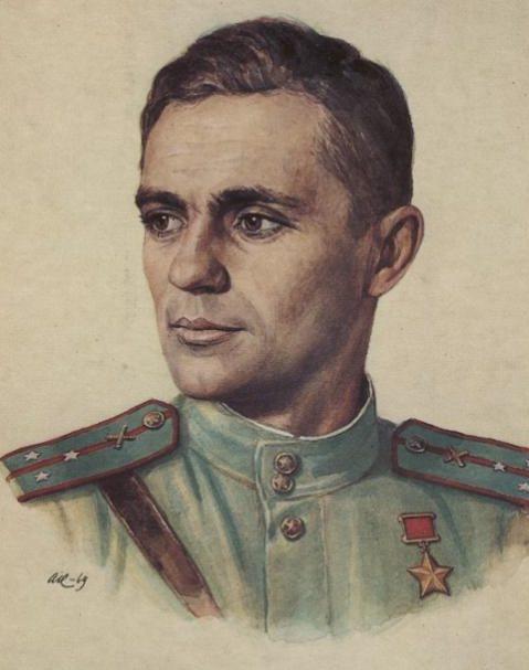 Кручина Александр. Герой Советского Союза И. Долженков.