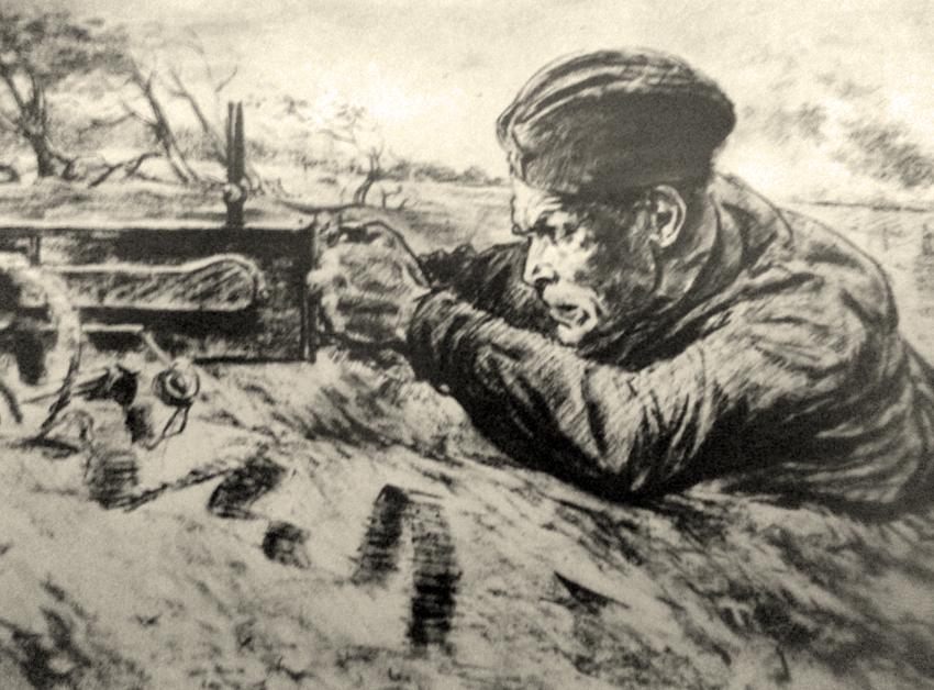 Жуков Николай. Пулеметчик.