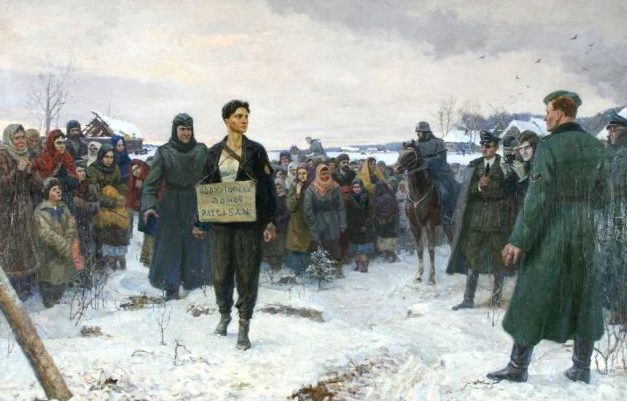 Щекотов Константин. Зоя Космодемьянская перед казнью.