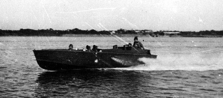 Катер «Sinyo» на тренировках. 1945 г.