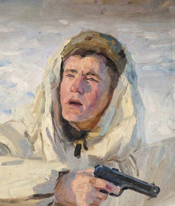 Горпенко Анатолий. Боец с пистолетом.