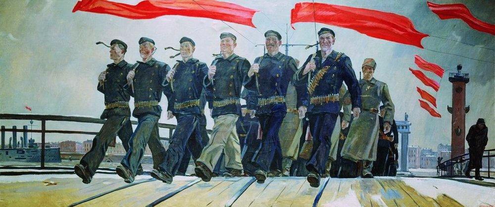 Дейнека Александр. Левый марш. 1941.