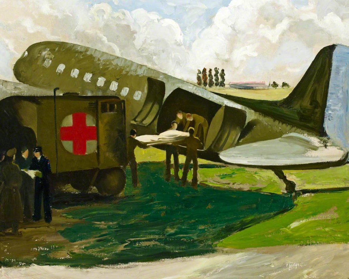 Zinkeisen Doris. Перегрузка раненных с самолета.