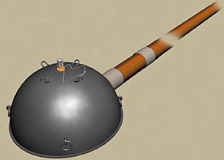 Рисунок противотанковой полусферической мины Ni-04.
