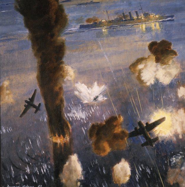 Adams Dennis. Атака на крейсер «Australia».
