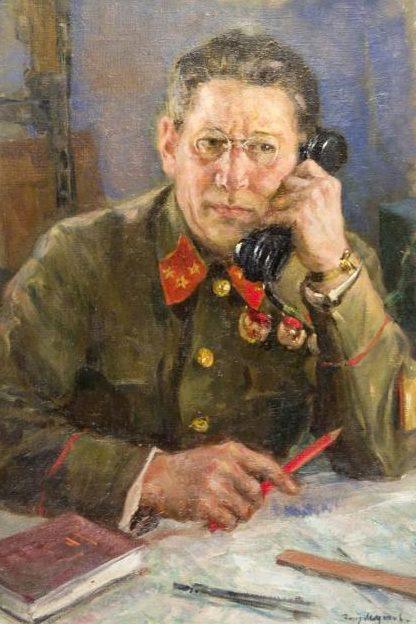 Модоров Федор. Портрет генерал-полковника М. Пуркаева.