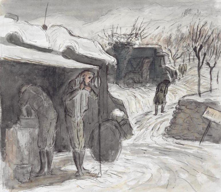 Ardizzone Edward. Бритье в снегу.