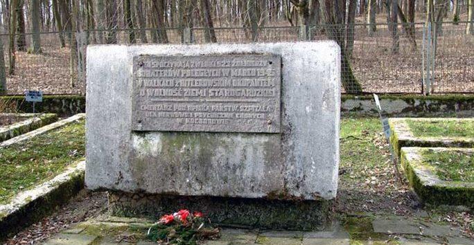 Памятный знак на братских могилах.