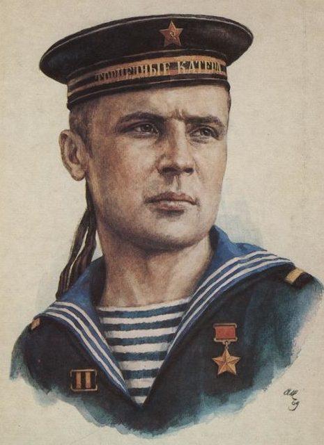 Кручина Александр. Герой Советского Союза В. Кусков.