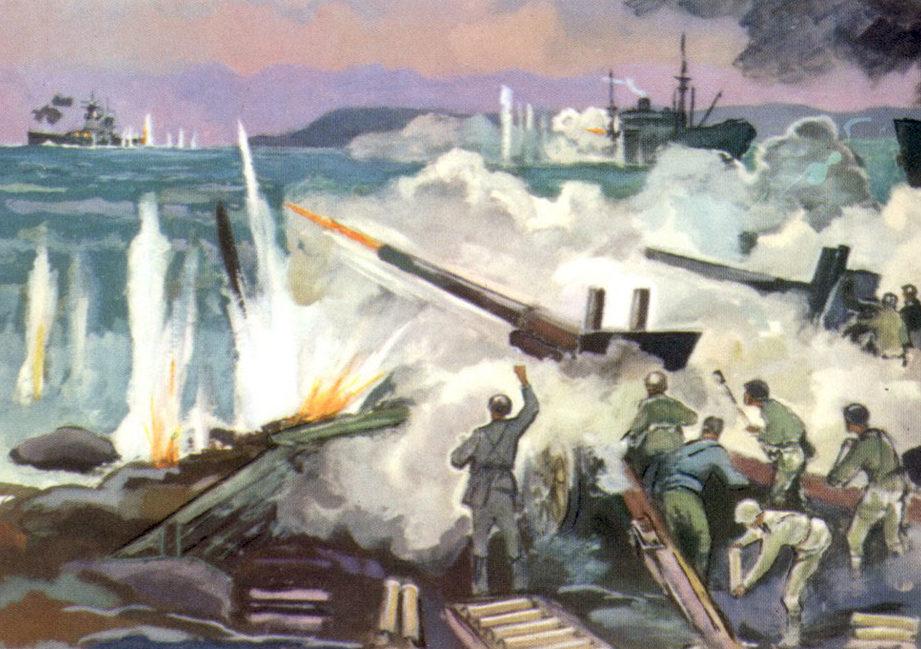 Павлинов Павел. Бой защитников острова Диксон с крейсером «Адмирал Шер».