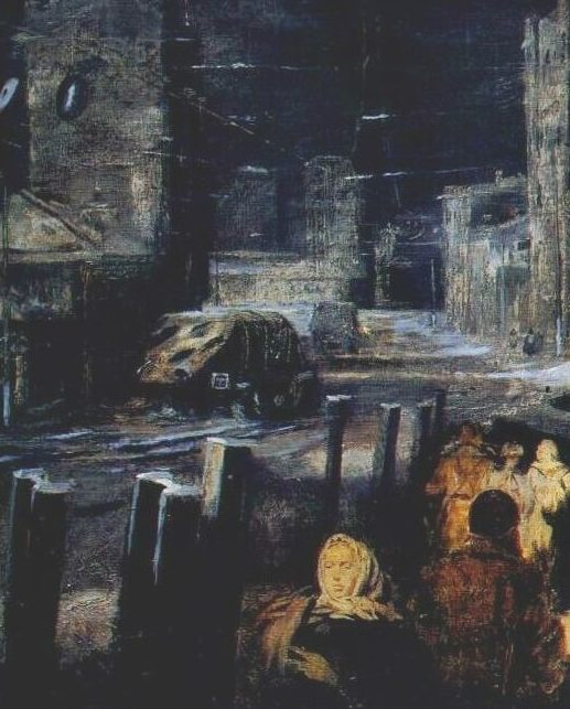 Пименов Юрий. Ночная улица.