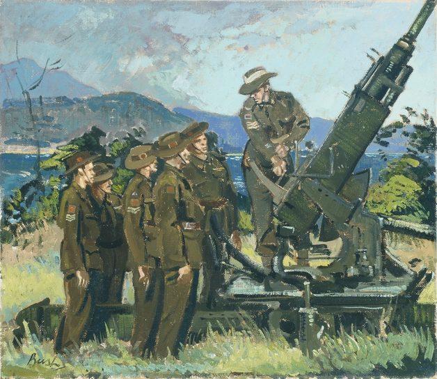 Bush Charles. Инструктаж у орудия Bofors.