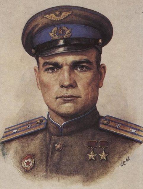Кручина Александр. Герой Советского Союза В. Лавриненков.