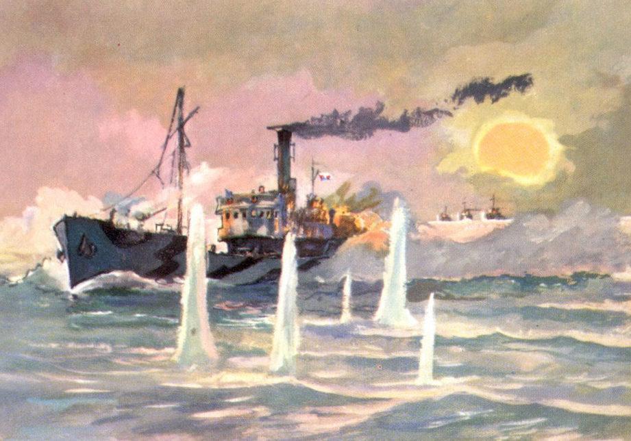 Павлинов Павел. Бой сторожевика «Туман» с эсминцами.