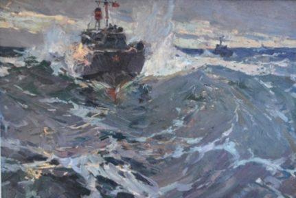 Столяренко Петр. Атака торпедных катеров.