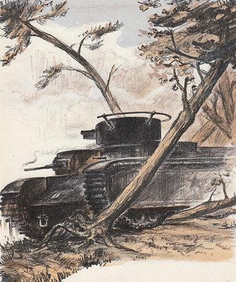 Кирпичев Павел. Танковая атака.