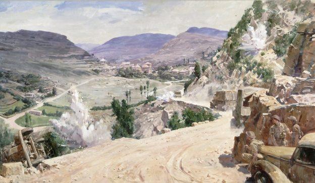 Dargie William. Горная дорога в Ливане.
