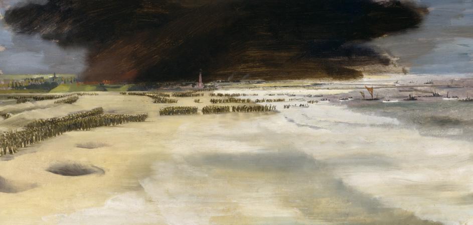 Richard Ernst. Пляжи Dunkirk. 1940 г.