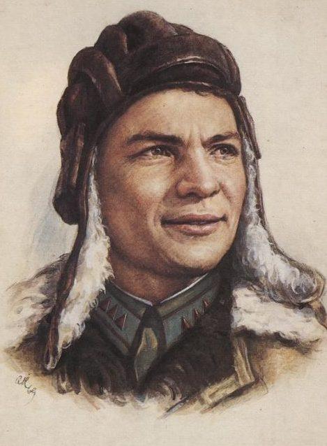 Кручина Александр. Герой Советского Союза И. Любушкин.
