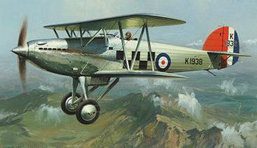 Huxley Roy. Истребитель Hawker Fury.