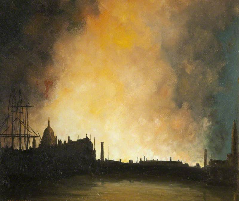 Haines Wilfred Stanley. Пожары в Лондоне.