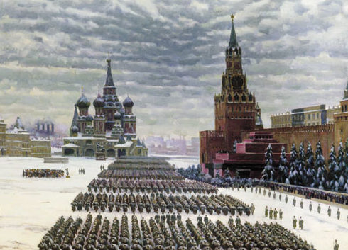 Юон Константин. Парад на Красной площади 7 ноября 1941 года.