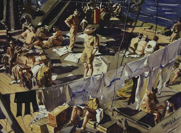Dargie William. На корме транспортного корабля в Красном море.