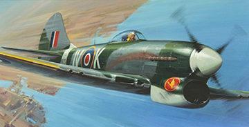 Huxley Roy. Истребитель Hawker Tempest.