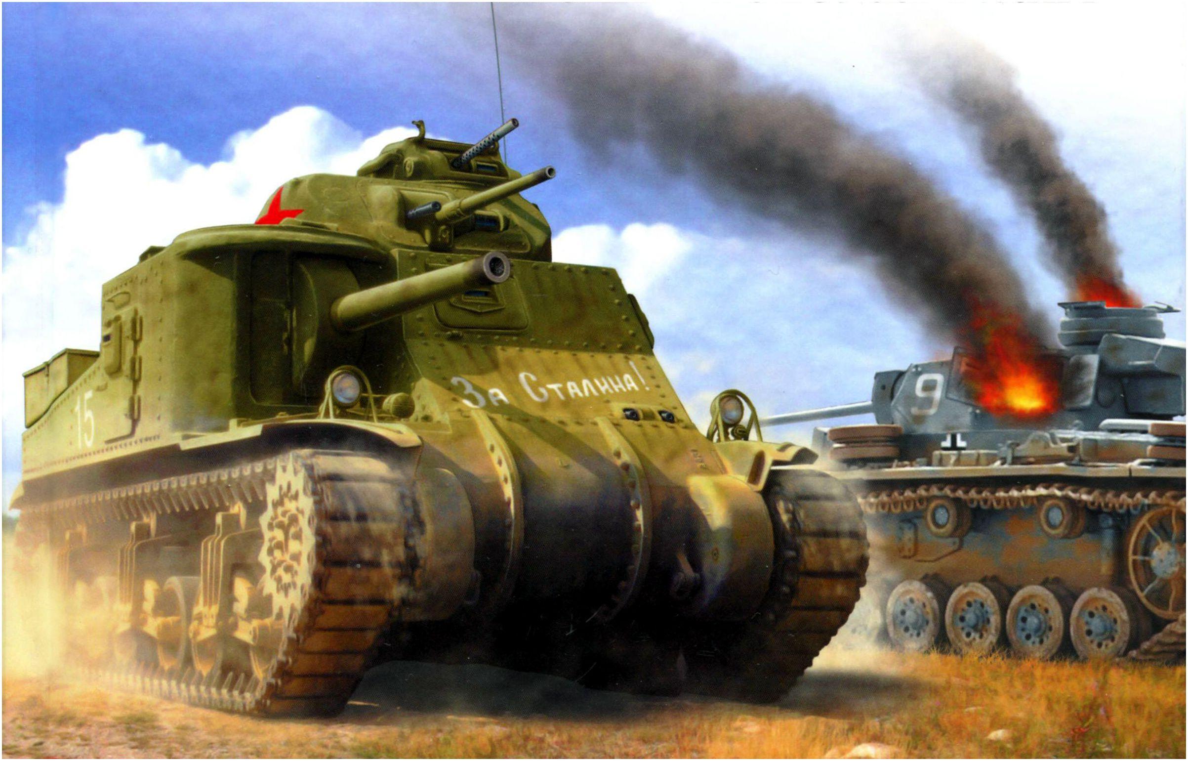 Петелин Валерий. Танк М-3 Lee Mk. I.