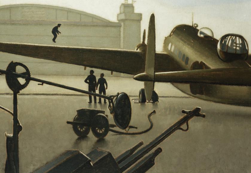 Henderson Keith. Lockheed Hudson в ангаре.