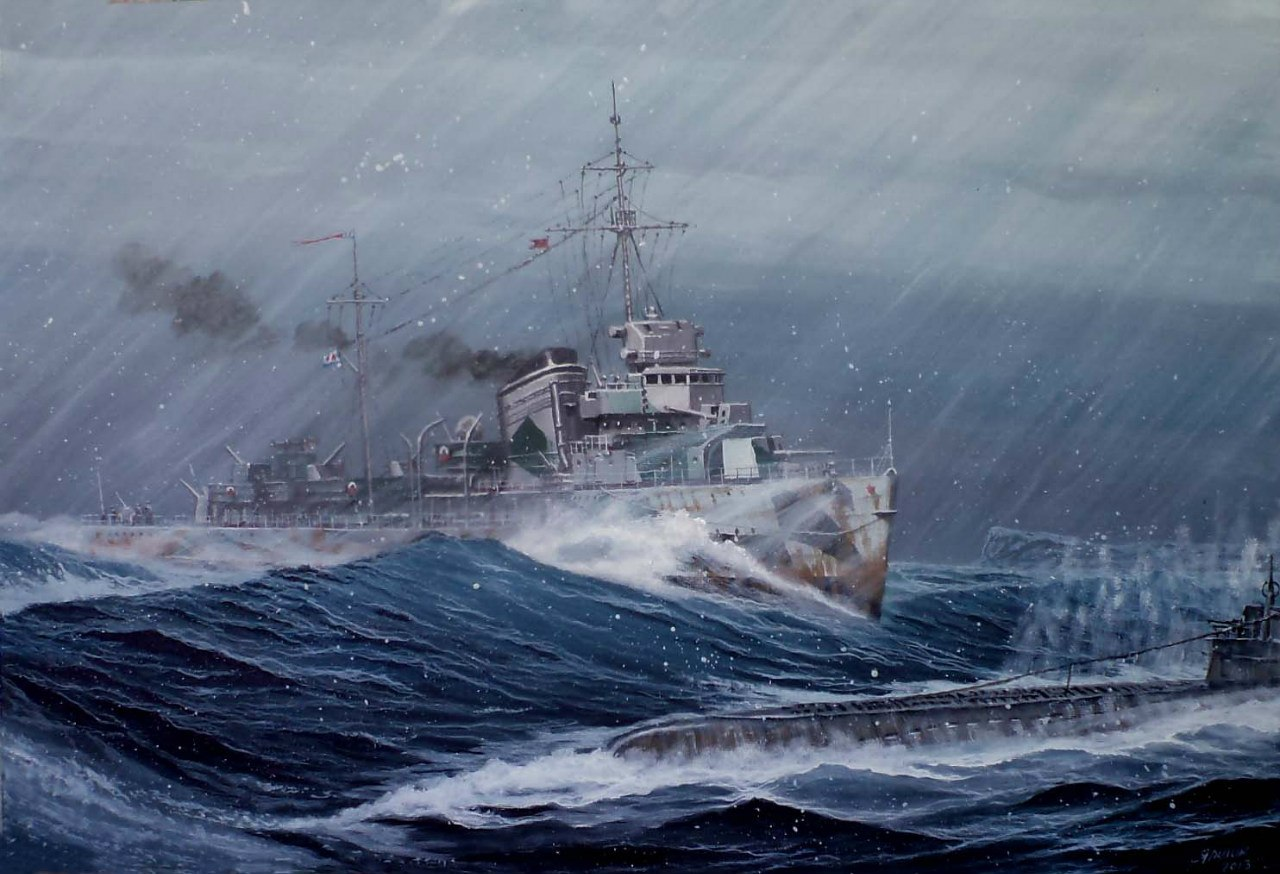 Ярулин Тимур. Атака «Гремящим» немецкой подлодки 30 марта 1942 г.
