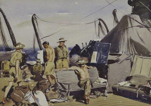 Dargie William. Войска на палубе.