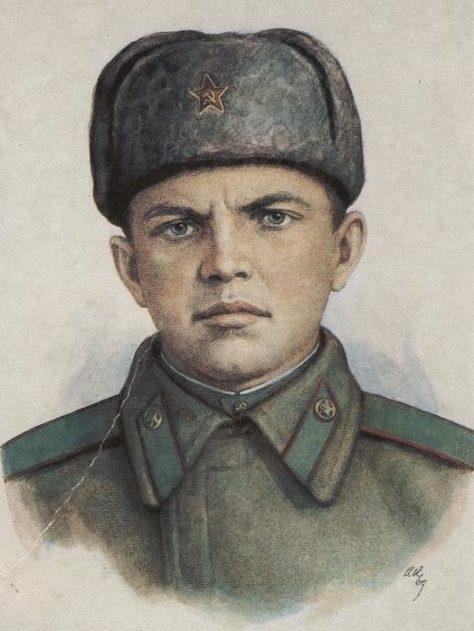 Кручина Александр. Герой Советского Союза А. Матросов.