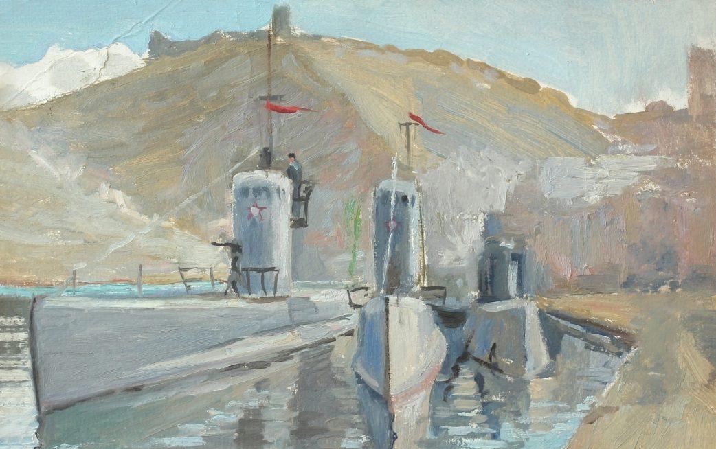 Мальцев Петр. База подлодок Черноморского флота в Балаклаве.
