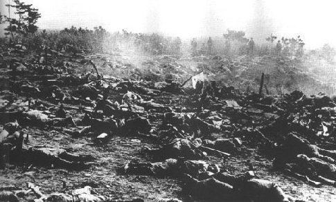 Результаты банзай-атаки. 1944 г.