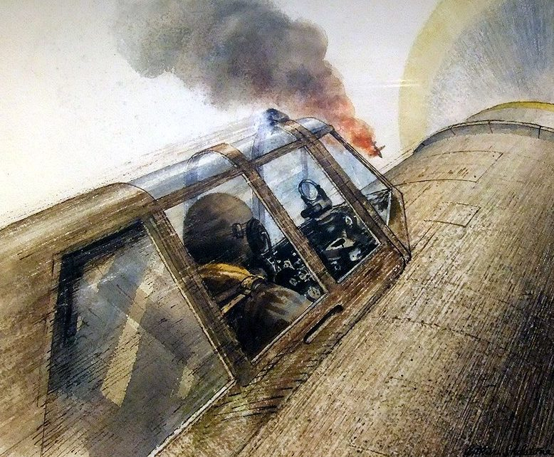 Шилстоун Артур. Пилот P-47 подбивает японский Zero.