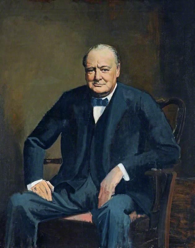 Orde Cuthbert. Портрет Winston Churchill.