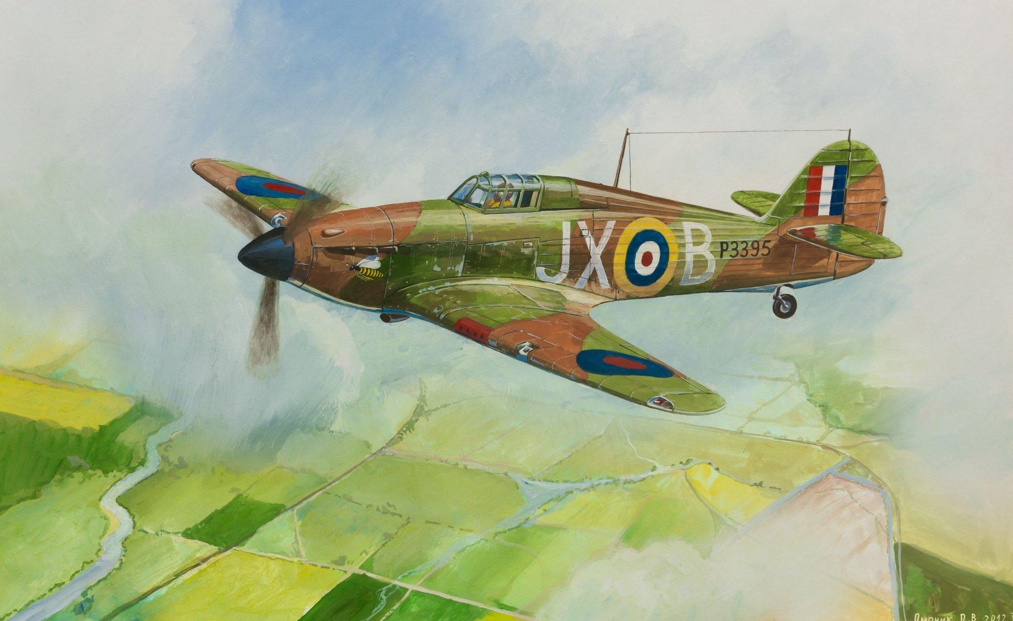 Дудчик Дмитрий. Истребитель Hurricane Mk-1.