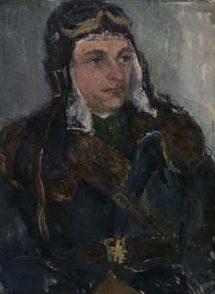 Удальцова Надежда. Портрет Летчика.