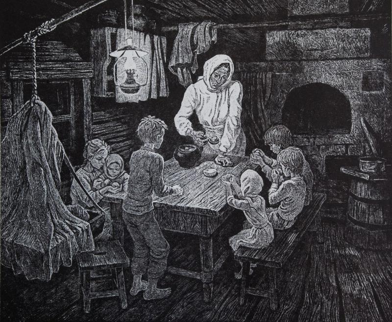 Воробьева Ирина. Скудный ужин.