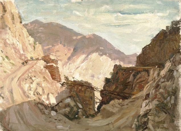 Dargie William. Разрушенный мост у Delphi.