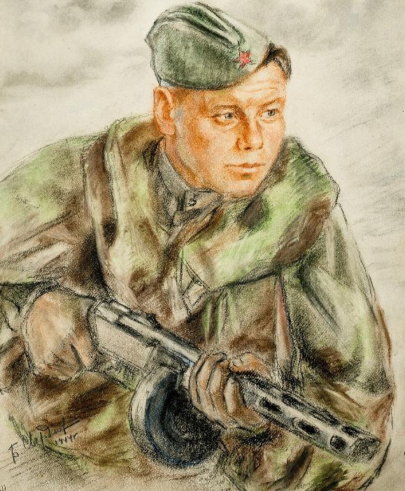 Свердлов Б. Разведчик старший сержант Славинский.