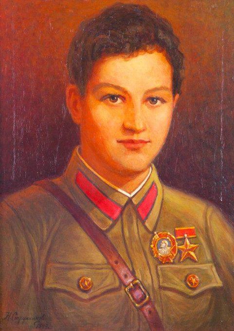 Струнников Николай. Портрет Зои Космодемьянской.