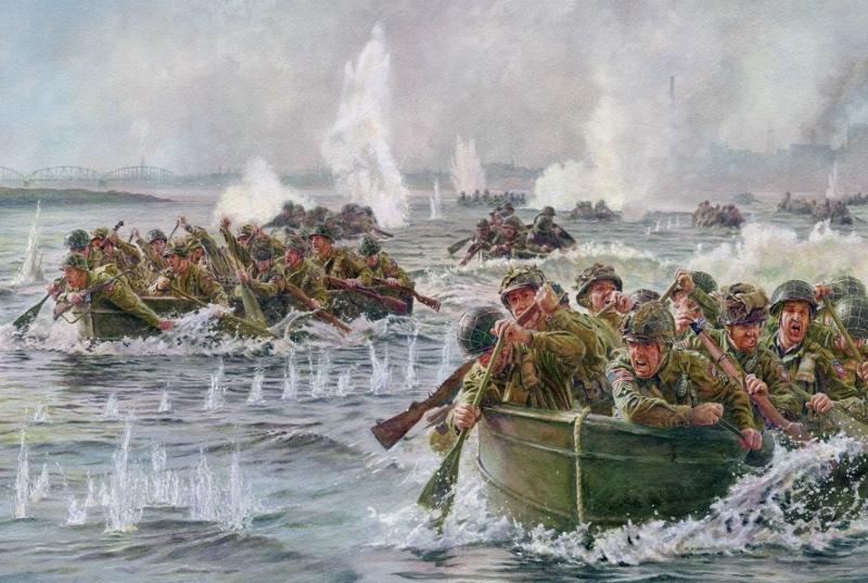 Noon Steve. Форсирование реки Ваал. 1944 год.