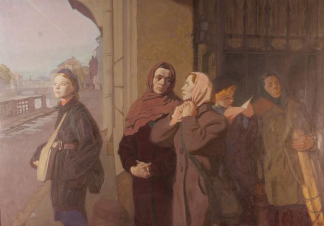 Фролова-Багреева Лидия. Налёт продолжается (Ленинград. Октябрь 1941 г.).