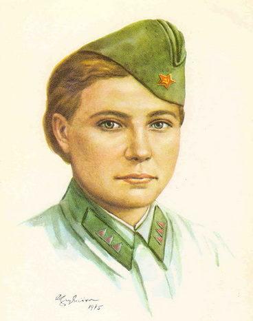 Кручина Александр. Герой Советского Союза З. Самсонова.