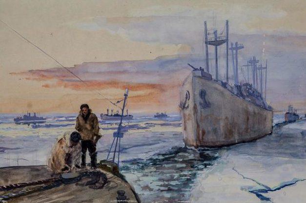 Свешников Дмитрий. Проводка каравана в Белом море.