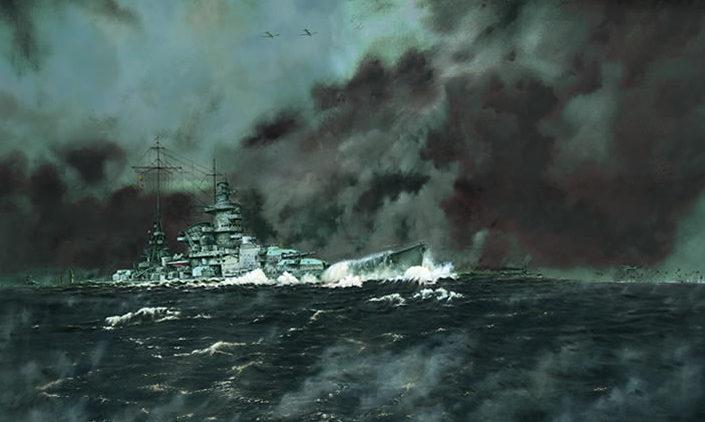 Littlejohn Mark. Линкор «Scharnhorst».